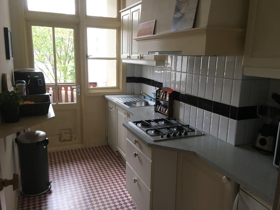 Kitchen, with excellent coffee machine