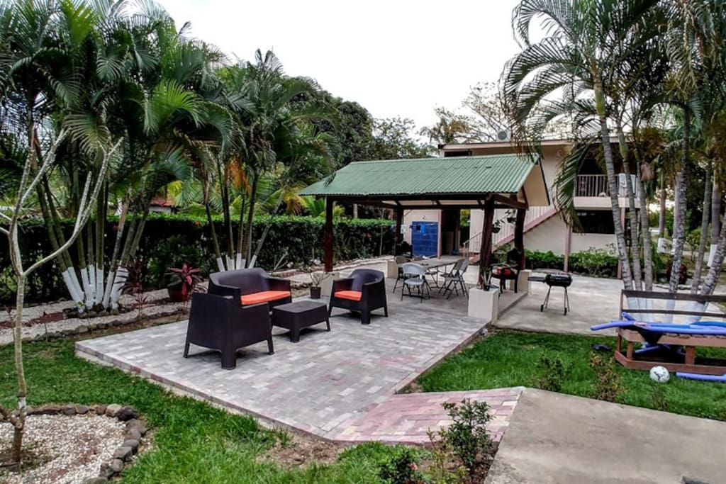 Outdoor furniture and gazebo