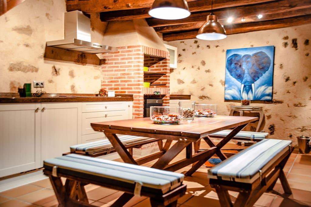 Cocina integrada en el salon