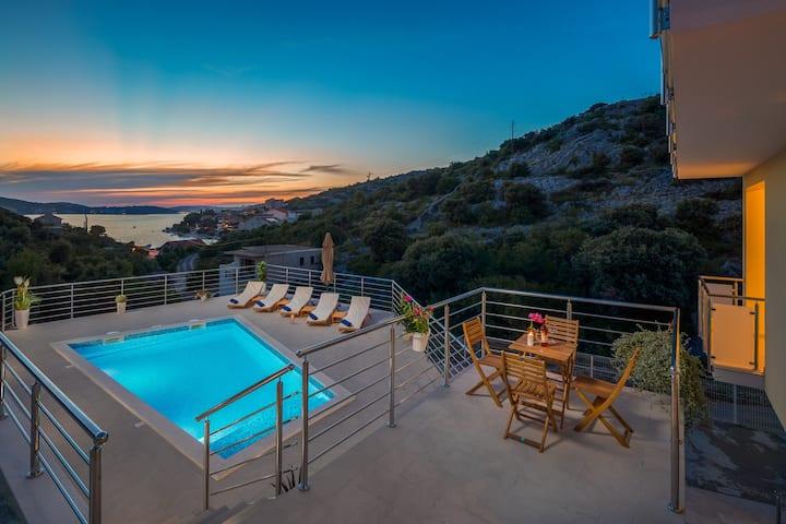 Villa Olive Tree Rogoznica with heated pool !