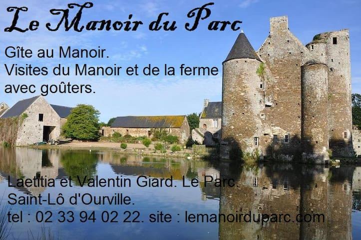 """Gîte """"Le Bacchus"""", Manoir du Parc d'Ourville (MH). - Saint-Lô-d'Ourville"""