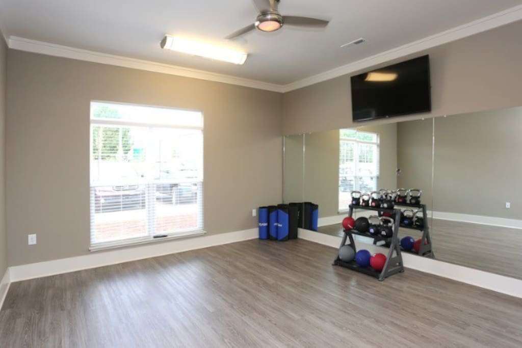 Yoga room at the gym
