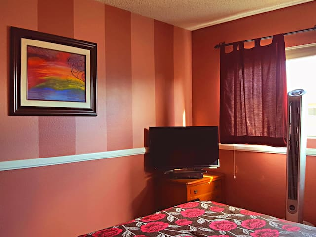 Bedroom Fully Lit to Blackout Shade, You choose!