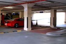 Free parking spot beneath building