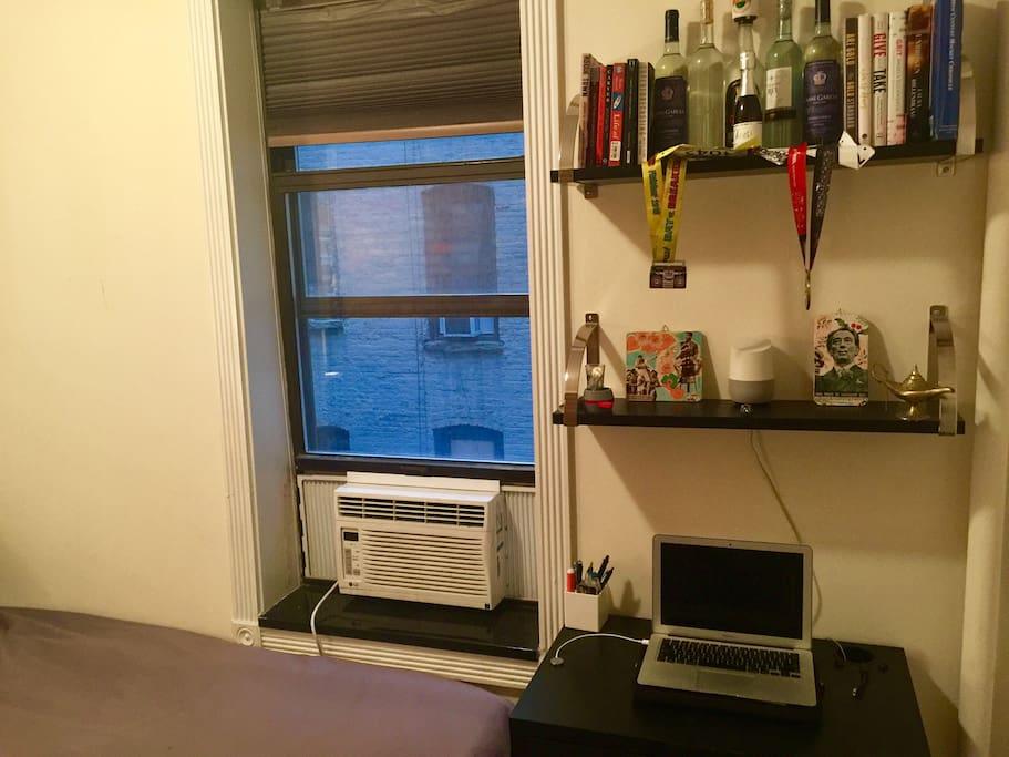 A/C unit + Desk