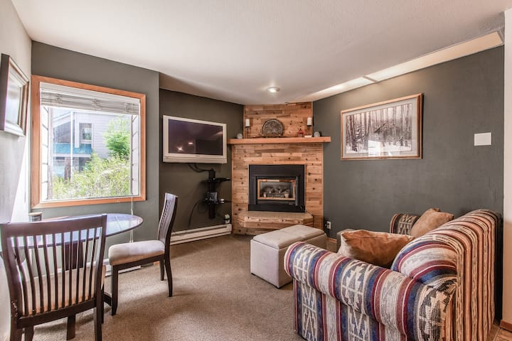 Dog-friendly ground floor condo w/ a gas fireplace - near local ski resort!
