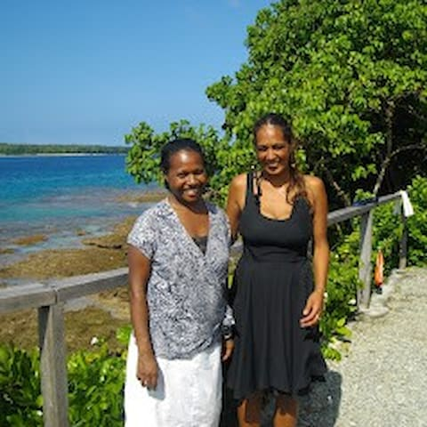 My wife Lyn and one of our guest. Lyn she is from Ambae island