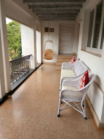 An angle of the sit out area on the first floor of the home stay.