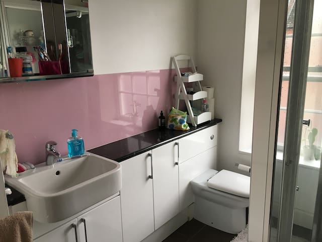 Shared bathroom, with shower