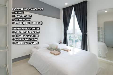 ★Couples Getaway IXX★ Cozy Suite Sleeps 1~4 | 城市套房