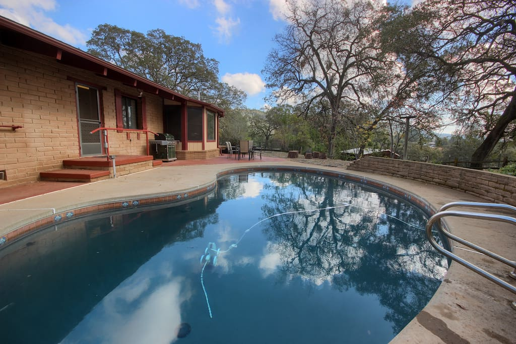 enjoy the seasonal pool during the summer months ...  perfect way to cool down after some serious hiking in the park!