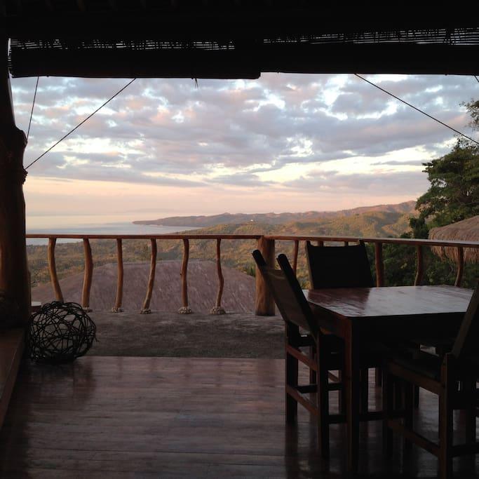 Sunset view from Restaurant Saki
