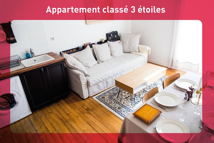 ⭐⭐⭐ Appart 3* centre-ville + parking | 2-6 pers 🐟