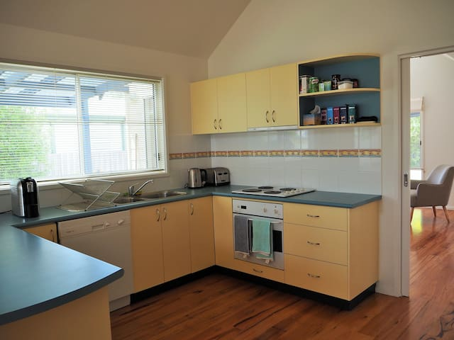 Kitchen facilities including coffee machine