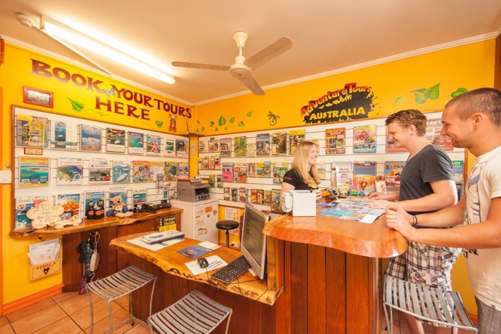 We have a great tour and info desk to help with all enquiries and tour bookings