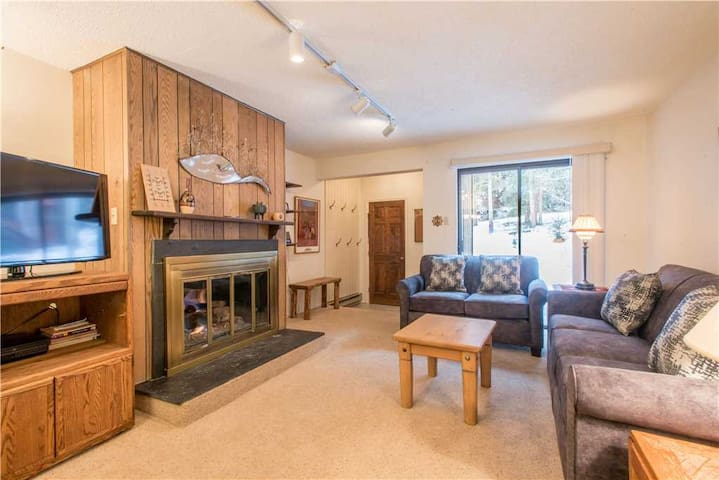 Cozy Ski-in/Walk-out condo, outdoor hot tub, free wifi, & parking, great value! - Ten Mile Haus B9