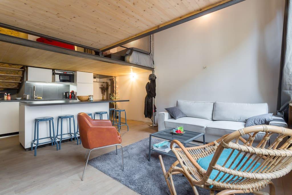 duplex le vorace lofts zur miete in lyon auvergne rh ne. Black Bedroom Furniture Sets. Home Design Ideas