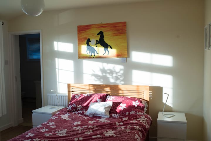 Sunny en suite double room - Long Ashton - Casa