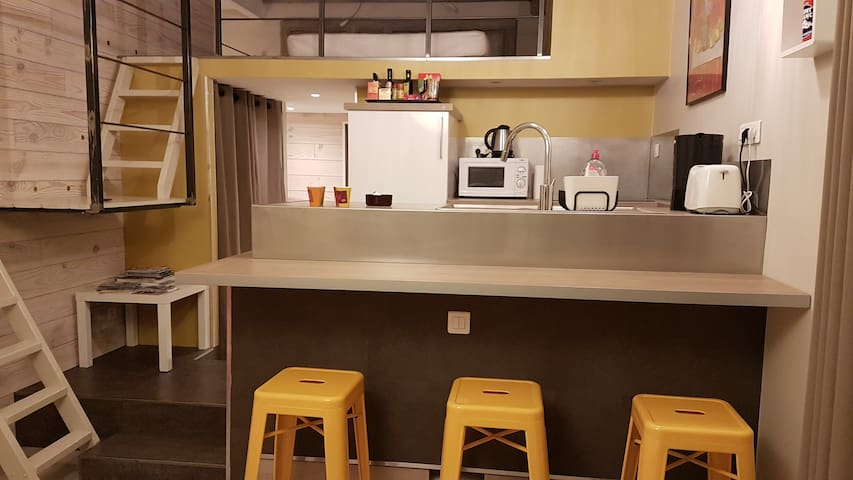 Annecy, vieille ville, appartement 4 pers, 3*.