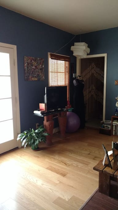 Main entry leads into living room