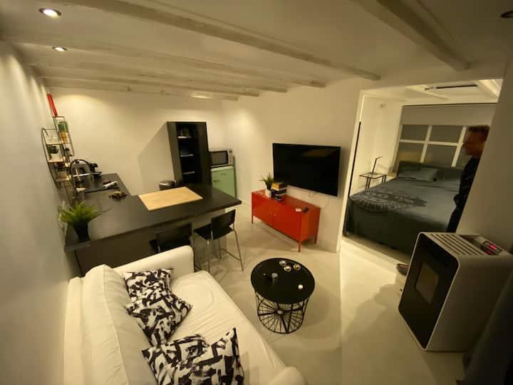 Vrijstaand nieuw appartement nabij strand en bos