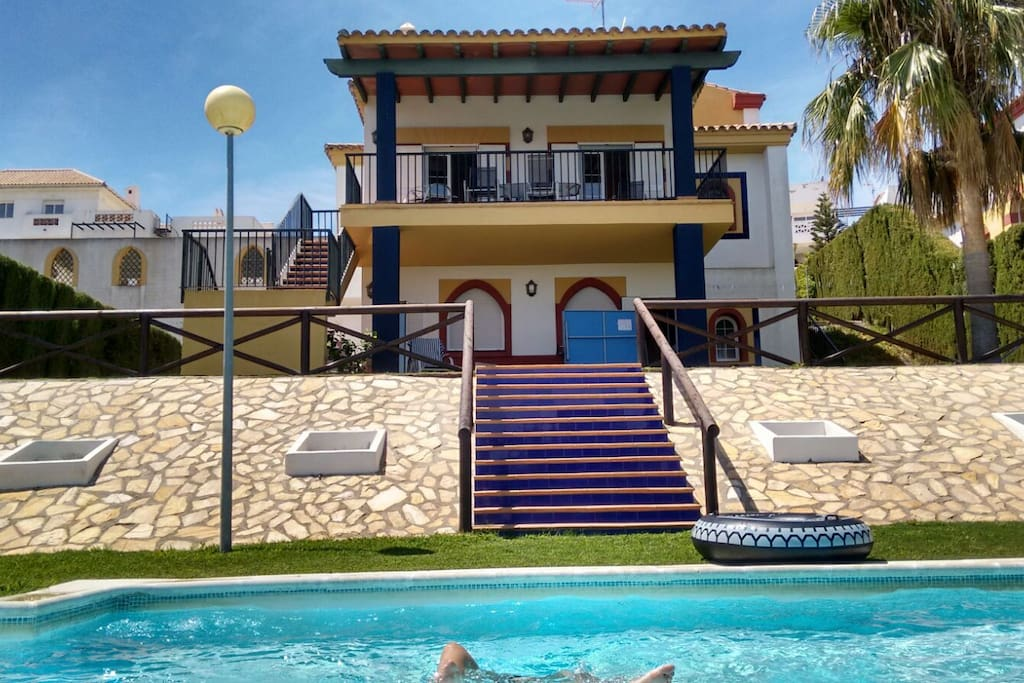 Villa view from the private pool and gardens