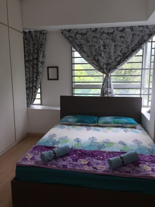Master bedroom with private bathroom (aircond and ceiling fan)