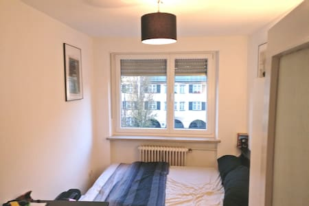 Cozy, modern apartment bedroom in central Munich - Munic - Pis