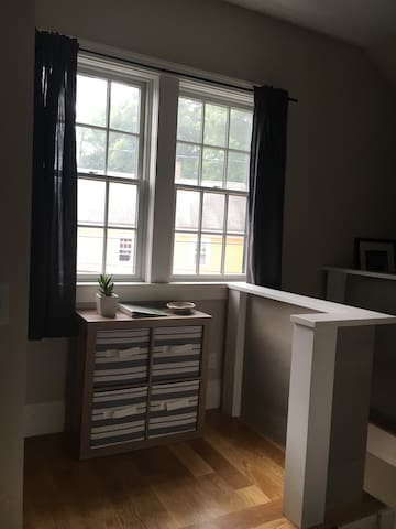 Apartment located on the second floor with big airy windows, lots of storage