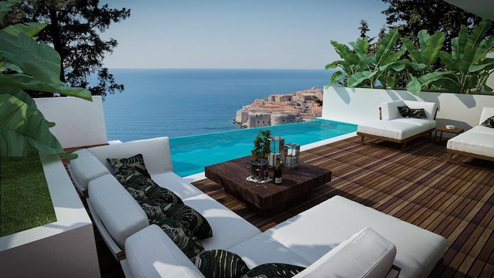 Villa T Dubrovnik with spectacular Old Town view