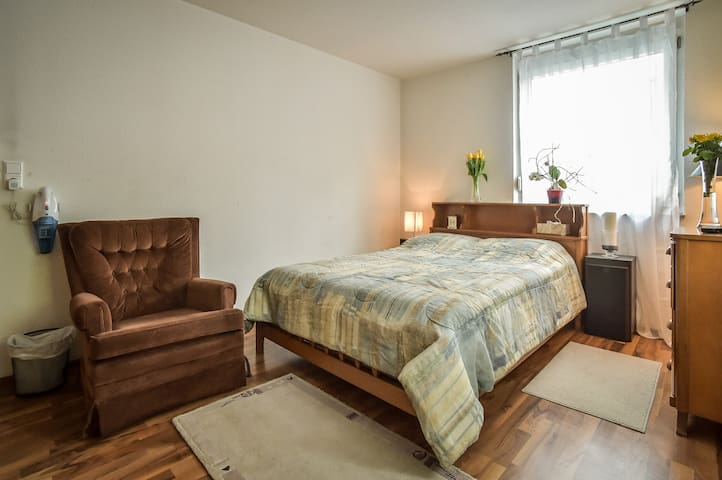 Big private bedroom and bath in a great location!