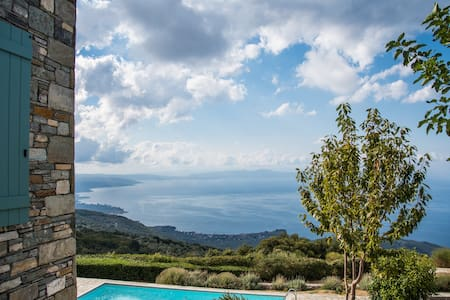 Pelion-Stonehouse with pool & amazing view - Agios Georgios Nilias - 别墅