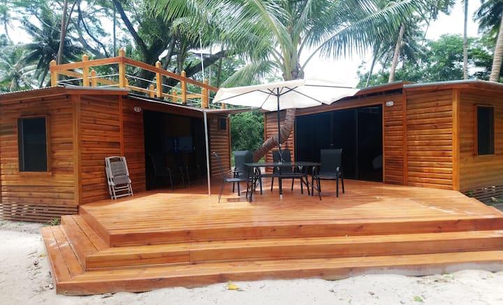 Beach House (Go Native)--on the white sand beach