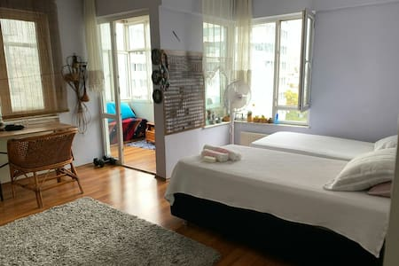 Room with balcony in city center.great location