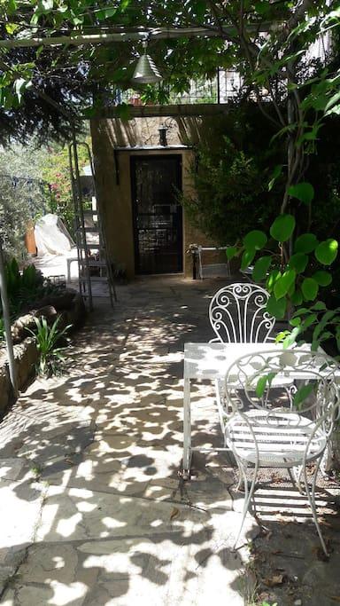 entrée privée du guesthouse