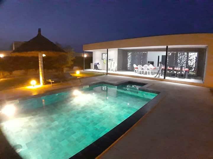 Havre de paix avec piscine sur Nguerigne.