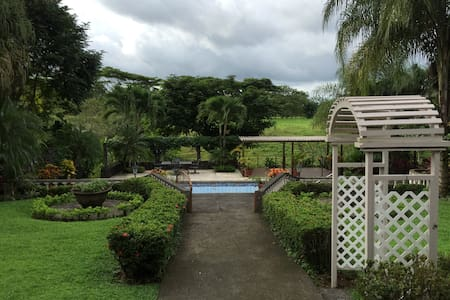 Unique stay to enjoy the magic that surrounds Arenal Volcano. This Ranch located 10 minutes away from la fortuna , it offers the perfect combination between tradition and comfort.  Staying in this spacious house surrounded by fruit trees and nature would make you fall even more in love with Costa Rica.