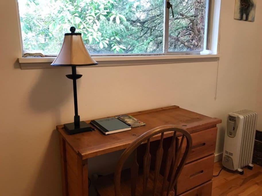 Guest room, desk.