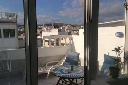 BUDGET Ocean view rooftop terrace 2 room apartment - Arguineguin - Wohnung