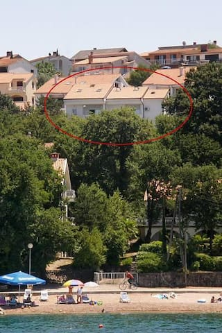 Two bedroom apartment with terrace and sea view Njivice, Krk (A-5295-a) - Njivice - Daire