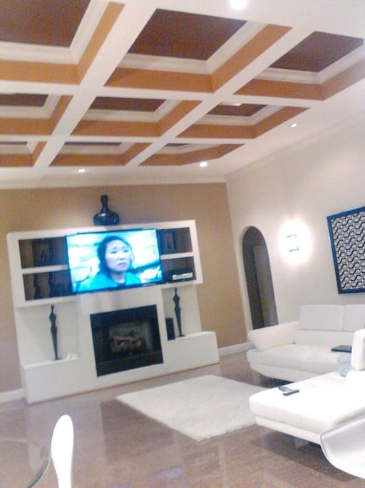 Fire place and entertainment center
