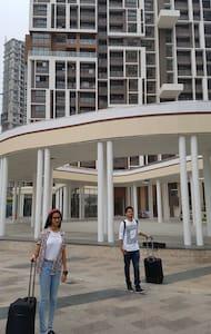 A large flat in a posh gated complex in  Calcutta