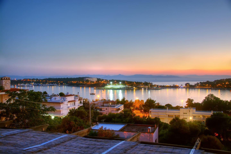 Sunset view from the veranda