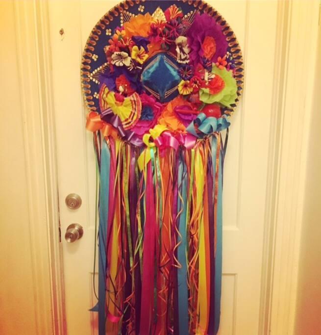 Front door. Happy Fiesta!