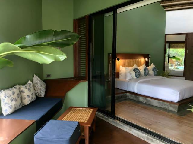 Deluxe room in Villa Kasadya, Panglao, Bohol