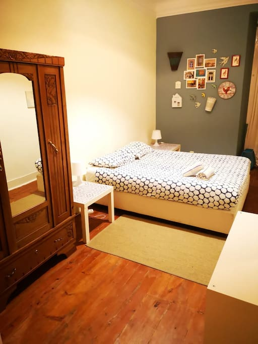 First Bedroom with a double bed.
