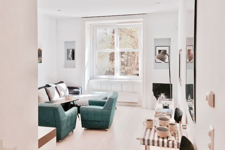 ◉ Central & quiet. Nice flat in a great district
