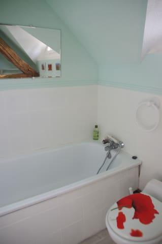 Salle de bain, baignoire.