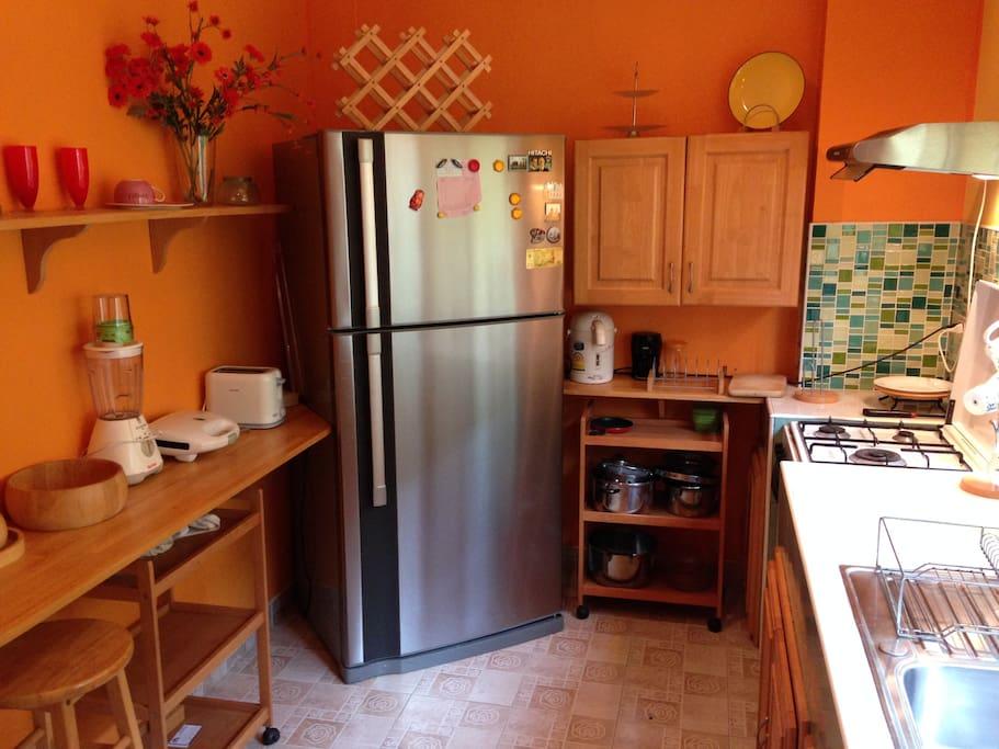 Kitchen. Big Fridge.