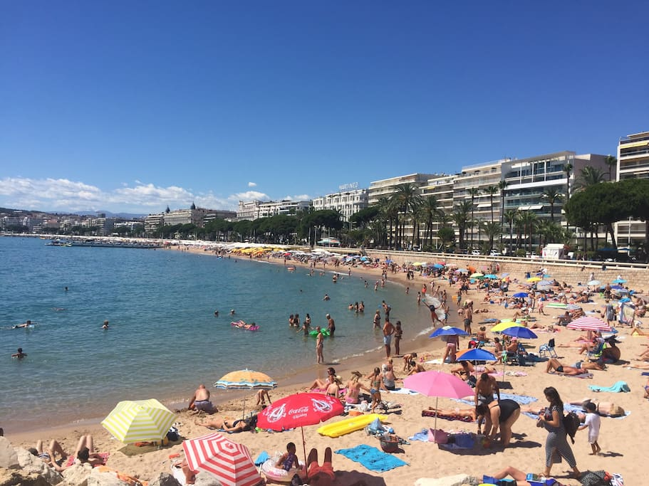 la plage de Cannes